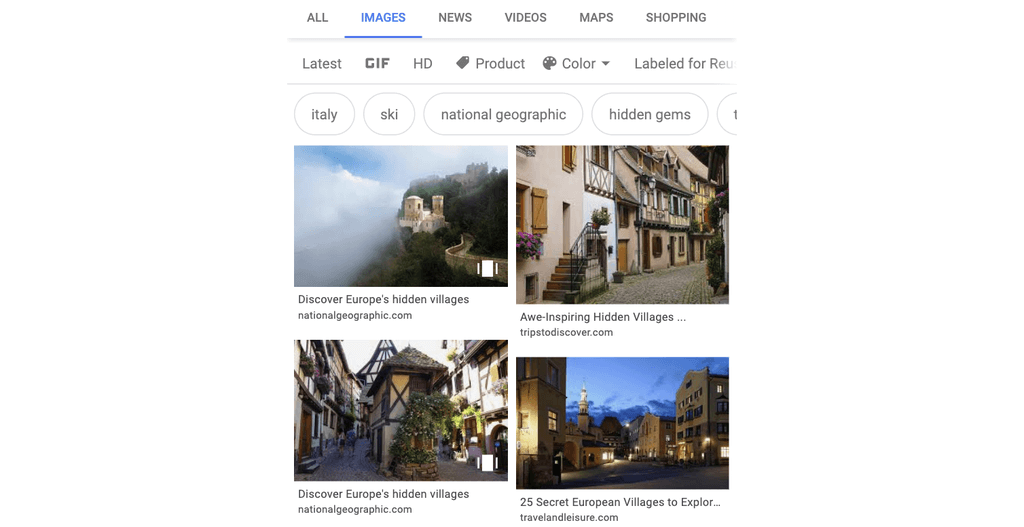 Voorbeeld Google Web Stories