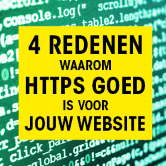 4 redenen waarom jouw site https nodig heeft